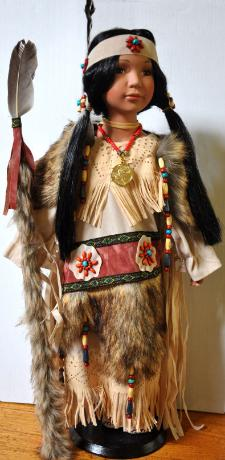 Sacagawea Doll- Her papoose is shown next to her